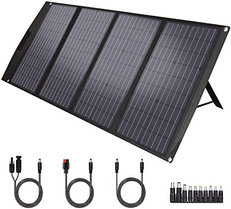 10. TwelSeavan Solar Panel 120W, Foldable Portable Solar Panel Charger for Jackery/EF ECOFLOW/Goal Zero/Rockpals Power Station, 4 Ports with USB3.0