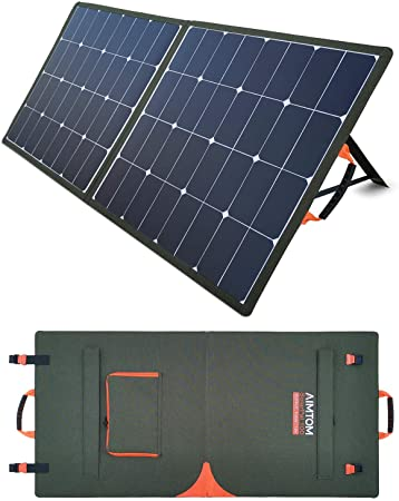 6. AIMTOM SolarPal 100W Portable Solar Panel for Power Station, Solar Generator, Phone and Laptop, Foldable Solar Power Charger