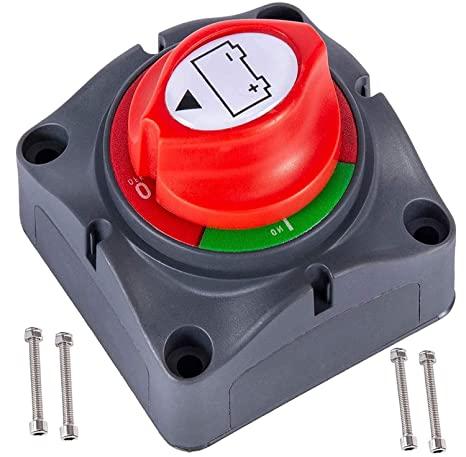 7. Battery Disconnect Switch 12V 24V 48V 60V Battery Master Cut Off Isolator Switch Waterproof