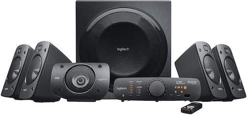 7.Logitech Z906 5.1 Surround Sound Speaker System - THX, Dolby Digital and DTS Digital Certified - Black