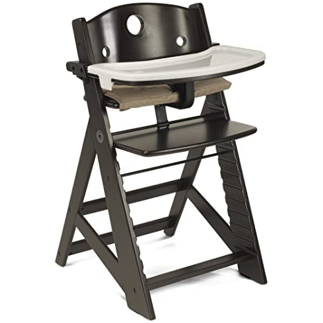 1. Keekaroo Height Right High Chair with Tray, Espresso