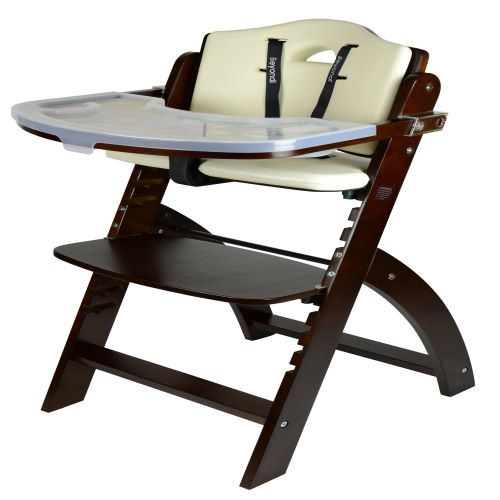 2. Abiie Beyond Wooden High Chair with Tray. The Perfect Adjustable Baby Highchair Solution