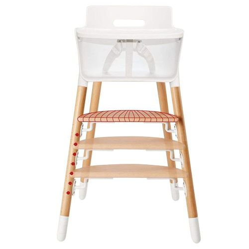 10. Asunflower Wooden High Chair Adjustable Feeding Dining Chair for Baby Highchairs Solution with Tray for Baby/Infants/Toddlers