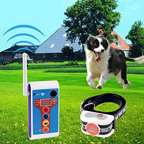 7. JUSTPET Dog Wireless Fence Electric Outdoor Training Collar 2 in 1 System, Safe Effective Dog Fence Adjustable Remote Shock Training Collar
