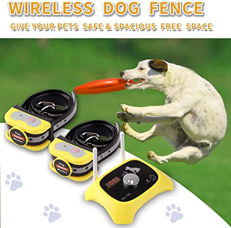 3. JUSTPET Wireless Dog Fence Electric Pet Containment System