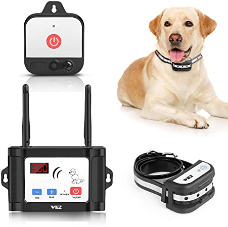 4. WIEZ Wireless Dog Fence with Additional Transmitter, 2021Upgraded Electric Dog Fence with Training Collar, Dual Antenna