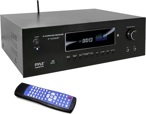 6.1000W Bluetooth Home Theater Receiver - 5.2 Channel Surround Sound Stereo Amplifier System with 4K Ultra HD, 3D Video